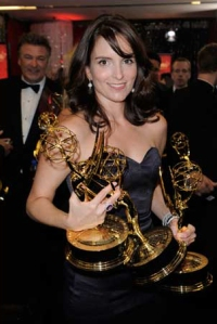 Tina Fey at the 2008 Primetime Emmy Awards (Photo copyright AP)
