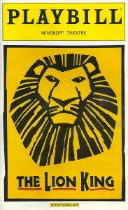 """The Lion King,"" playbill"