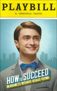 """How to Succeed in Business Without Really Trying"" Playbill"