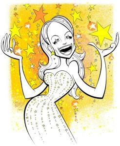 """Kristen Chenoweth,"" copyright Squigs 2011, www.squigsink.com"