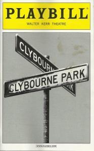 """Clybourne Park"" Playbill"