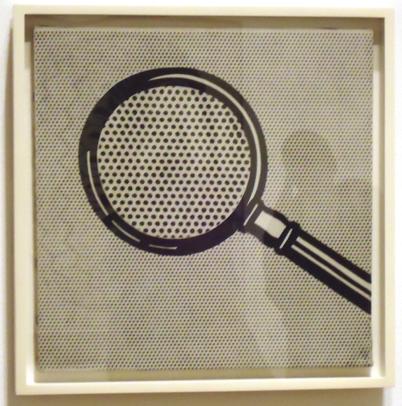 """Magnifying Glass,"" Roy Lichtenstein, 1963"