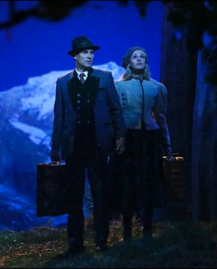 Stephen Moyer as Captain Von Trapp, Carrie Underwood as Maria. Photo by: Will Hart/NBC.